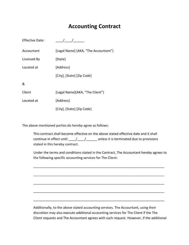 Accounting Service Agreement