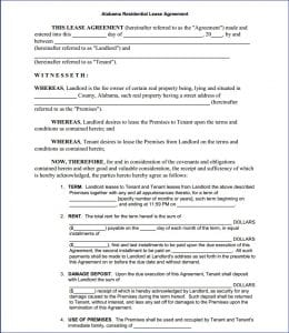 Alabama Residential Lease Agreement