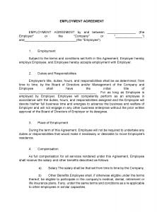 Standard Employment Agreement